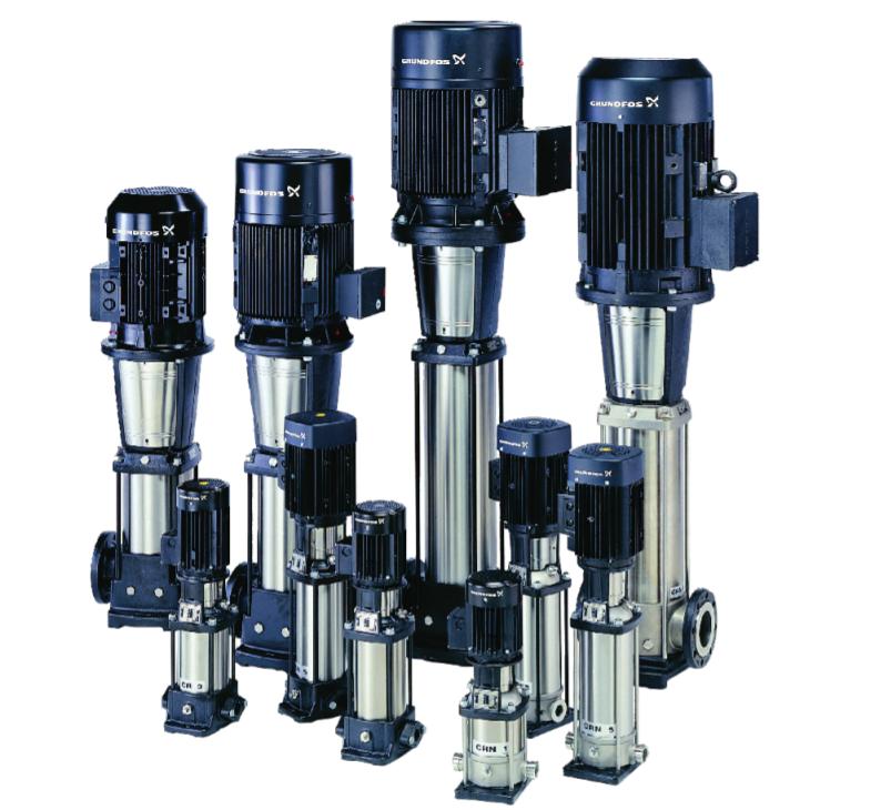 ปั๊มน้ำ GRUNDFOS รุ่น CR – (Vertical Multistage Centrifugal Pumps)